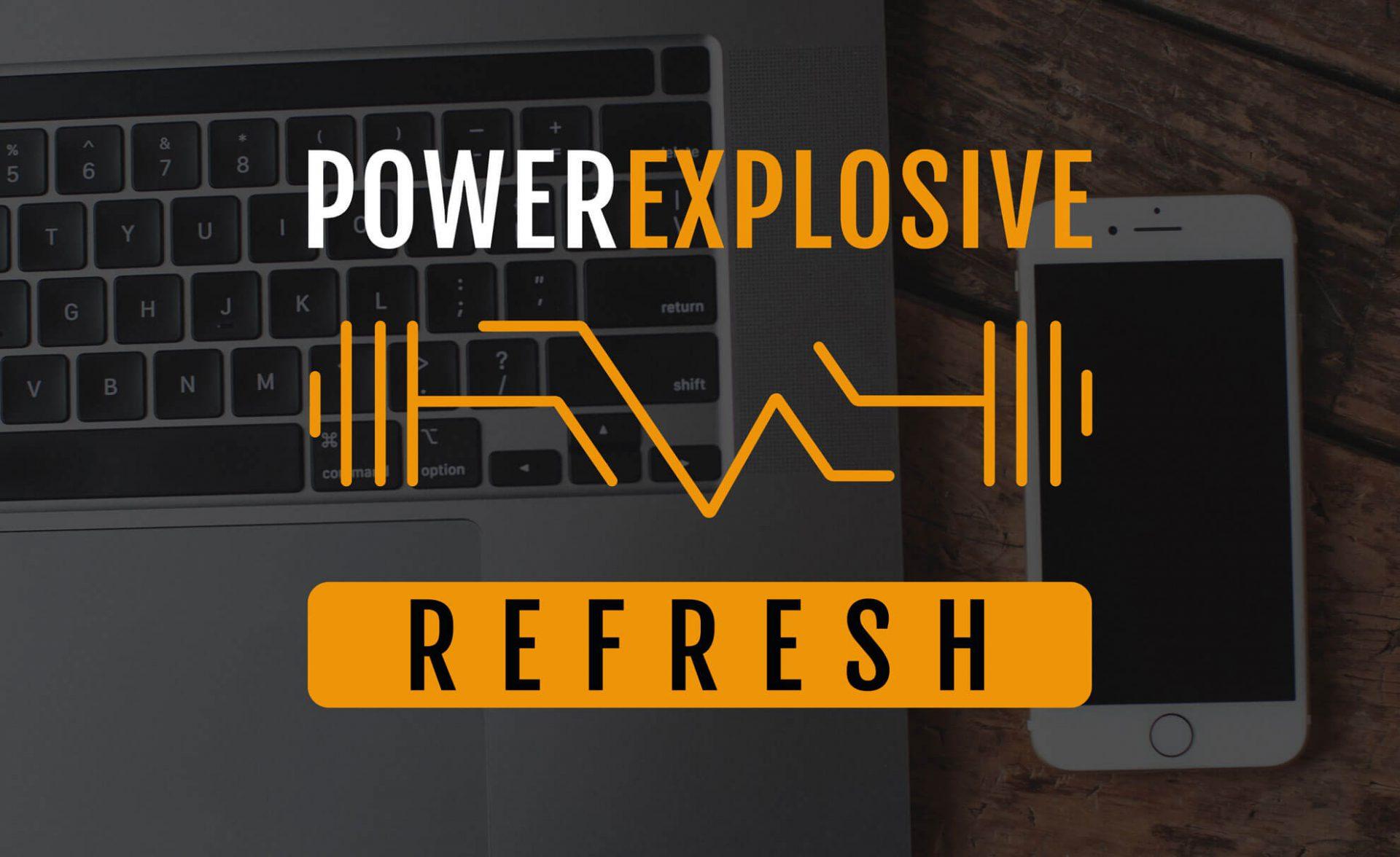 imagen corporativa portfolio diseño power explosive refresh