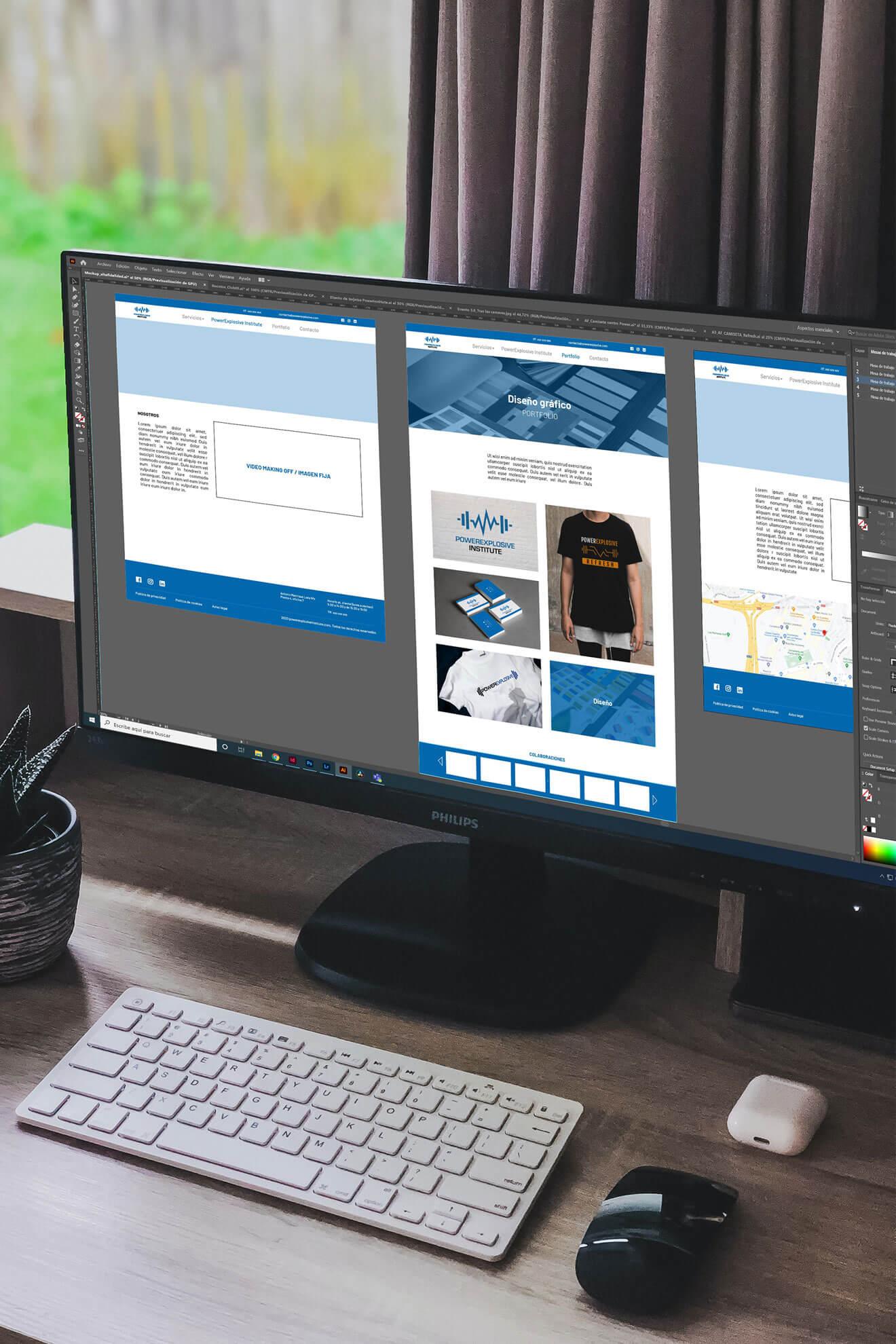 Diseño web portfolio powerexplosive institute